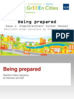 Being Prepared - Resilient Urban Solutions