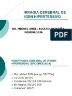 Hemorragia Cerebral de Origen Hipertensivo