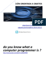 Programación Orientada a Objetos - Encuadre