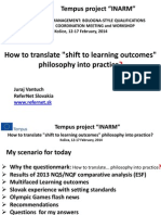 "How to translate ""shift to learning outcomes"" philosophy into practice"