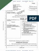Ecodisc Complaint re DVD industry antitrust claims