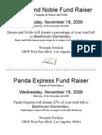 Barnes and Noble Fund Raiser