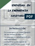 Serenidad en Emergencia Sanitaria