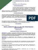 Reglamento de La Ley de Propiedad Industrial
