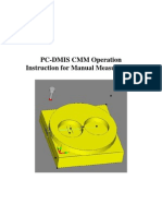 PC-DMIS CMM Operation Instruction for Manual Measurement