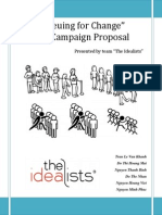queuing for change imc campaign proposal the idealists team