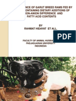 Performance of Garut Breed Rams Fed by Ration