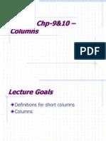 Lecture Chp 9&10 Column Design
