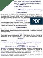 Reglamento Interno de La Unidad de Gestion Para El Desarrollo Maga