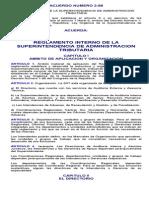 Reglamento Interno de La Superintendencia de Administracion Tributaria