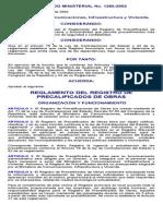 Reglamento Del Registro de Precalificados de Obras