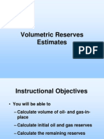 Volumetric Reserves Estimates