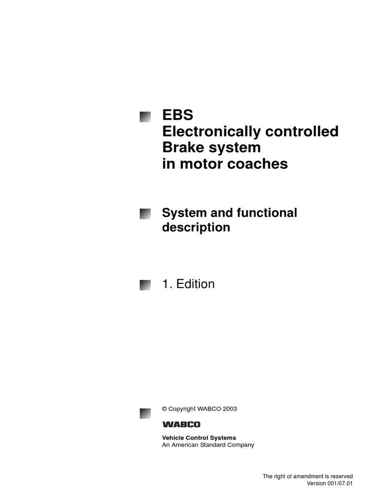 Actros Abs Ebs Anti Lock Braking System Brake Relay Valve Working Principle