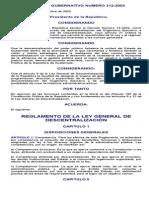 Reglamento de La Ley General de Descentralización