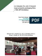Hui Li Group Presentation on API Exhibition