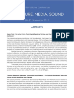 Literatura Media Sound Abstracts Nov 2013
