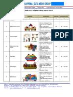 RAB APE PAUD 2014 ~Daftar Harga Alat Peraga Pendidikan Anak Usia Dini (PAUD) dan TK _CV. Asaka Prima