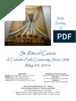 St. Rita Parish Bulletin 5/25/2014