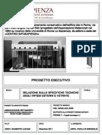 Relazione Sulle Specifiche Tecniche Degli Infissi