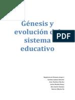Génesis y evolución del sistema educativo español. (Trabajo).pdf