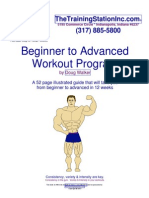 Beginner to Advanced Workout Program