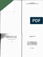 El Chimpancé y Los Orígenes de La Cultura - Jordi Sabater Pi