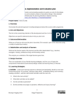 Template for Design Development Implementation and Evaluation Plan