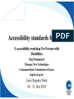 Accessibility Standards for ICTs XCompatibility Modex