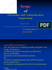 Scope and Applications of Electronics and Communication Engineering