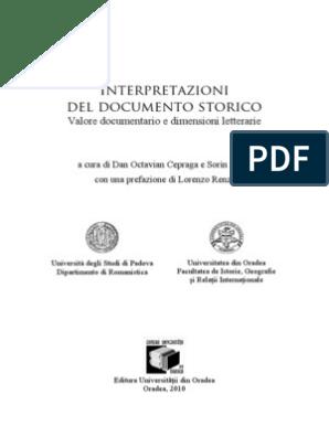 Interpretazioni Del Documento Storico Valore Documentario E