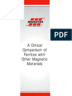 comparison of ferrite and other magnetic materials