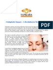 Oculoplastic Surgery – a Revolution in Medical Science
