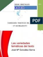 Variedades Temc3a1ticas Del Texto 2c2ba Bachiller