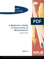 A Beginner's Guide to Uncertainty of Measurement