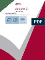 Module 3 - Word Processing [ Word ]