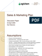 61009469 Agri Chemicals Industry Sales Amp Marketing Plan Bup 05-04-09