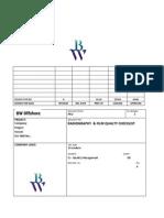 Radiography - Film Quality Checklist