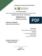 Informe de Practicas y Tarea Academica