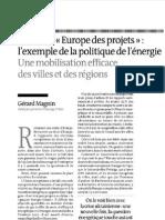 """Pour une """"Europe des projets"""""""