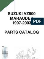 Suzuki VZ800 Marauder Parts Catalog 1997 2003