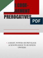Labor Code- Management Prerogatives