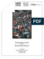 Demographic Trends and their Humanitarian Impacts
