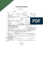 Contractul de Donatie (Actiuni)