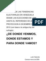 Informe Tascón sobre tendencias electorales para 2010