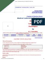 Medical Laboratory Techniques