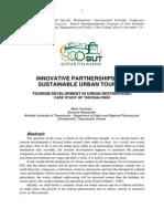 Tourism Development in Urban Destination Case Study of Thessaloniki