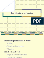 Purification of Water Small Scale