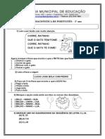 AVALIAÇÃO DIAGNÓSTICA DO 2° ANO