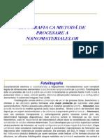 Litografia CA Metodă de Procesare a Nanomaterialelor