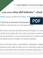 Esade - Los Secretos Del Talento. Mayo 2014